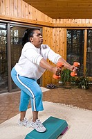 Mature woman exercising (thumbnail)
