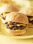 Mini Cheeseburgers on a Plate