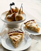 Pear pie slices