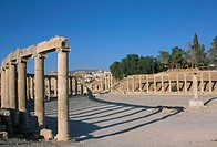 Archaeological site, Jerash, Jordan, Middle East