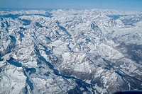 Aerial view over the Alps, Italy, Europe
