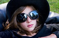 cool girl black hat