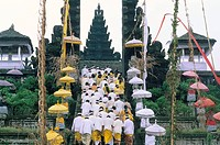 Batara Turum Kabeh ceremony, Hindu temple of Besakih, island of Bali, Indonesia, Southeast Asia, Asia