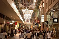Crowded shopping arcade, Kobe city, Kansai, Honshu island, Japan, Asia