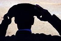 Torero , Bullfighting arena of Las Ventas , Matador adjusts its hat, the Montera , Madrid , Spain , Europe