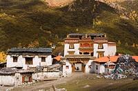 Chonggu lamasery, Yading Nature Reserve, Sichuan Province, China, Asia