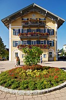Town hall, Tegernsee, Upper-Bavaria, Bavaria, Germany
