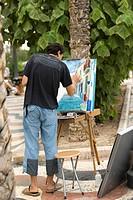Road artist, Alicante, Spain