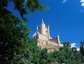 The Alcazar viewed from the west, Segovia, Castilla y Leon Castile, Spain, Europe
