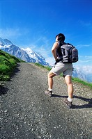 Trekking at Kleine Scheidigg, Bernese Oberland, Switzerland, Europe