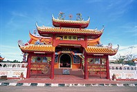 Chinese Temple in Kota Kinabalu, Sabah, Borneo, Malaysia, Southeast Asia, Asia