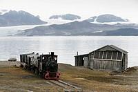 Glaciers at Ny Alesund. Spitsbergen island, Svalbard archipelago, Arctic Ocean, Norway