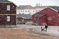 Ny Alesund. Spitsbergen island, Svalbard archipelago, Arctic Ocean, Norway