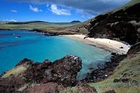 Beach, Rapa Nui (Easter island), Polynesia, Chile