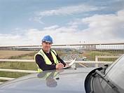 Ecologist Above Motorway