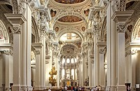 Cathedral St Stephan town of Passau Bavaria Germany