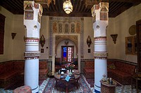 Maison Mnabha riad small local hotel, Marrakech, Morocco, North Africa, Africa