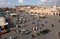 Jemaa el Fna Square, Medina, Marrakesh, Morocco, North Africa, Africa
