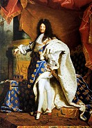 Louis XIV (1638-1715) painting by Hyacinthe Rigaud (1701)