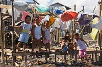 Shanty town on edge of Legaspi City, Bicol Province, Southeast Luzon, Philippines, Southeast Asia, Asia