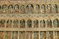 Frescoes inside the Princely Church, Court of Arges, Curtea de Arges, Wallachia, Romania, Europe