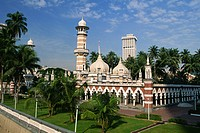 The Masjid Jamek Friday Mosque, built in 1907, Kuala Lumpur, Malaysia, Southeast Asia, Asia
