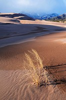 Great Sand Dunes National Park in winter. Colorado, USA