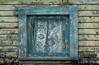 A window of an abandoned farm_house