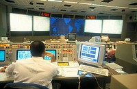 NASA Space Mission Control, Space Centre, Houston, Texas, United States of America, North America