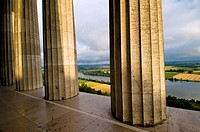 Valhalla, temple in Greek style, Greek columns, Danube valley near Regensburg, Bavaria, Germany