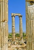 Turkey, the ruins of Aphrodisias, columns with ionic capitals