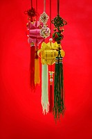 Still life of Chinese New Year decorations