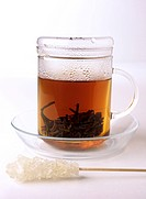 tea glass and sugar