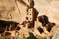 Mesa Top Loop Road Ruins, Pueblo ruins in Mesa Verde containing some of the most elaborte Pueblo dwellings found today, Mesa Verde National Park, UNES...