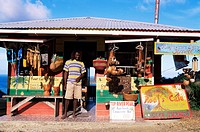 Colourful souvenir shop, Speyside, Tobago, West Indies, Caribbean, Central America