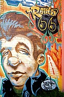 Mural by Jaspur on Historic Route 66, Downtown Tulsa, Oklahoma, United States of America, North America