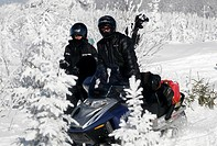 A skidoo expedition in the area of Charlevoix Quebec
