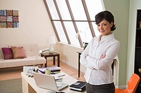Woman in home office