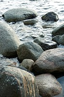 Rocks in water