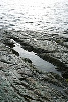 Rocky sea shore, close-up