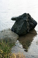 Boulders in shallow water