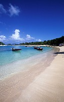 The beach of Salt_Whistle_Bay Mayreau Grenadines islands