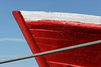 Prow of boat, extreme close-up