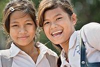 Lovely Cambodian teen girls, Phnom Penh, Cambodia No model releases available