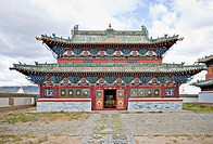 Temple building in Buddhist monastery compound, Erdene Zuu monastery, north central Mongolia
