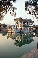 The Marble Boat on the lake at the Summer Palace, China