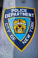 NYPD sign, New York