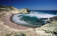 Carbon beach, Cabo de Gata natural park, Almeria province, Andalusia, Spain