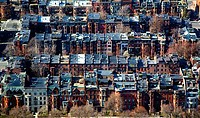 High angle view of buildings in a city, Boston, Suffolk County, Massachusetts, USA