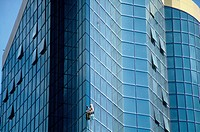 Fasadtvätt, Close_Up Of Window Washer